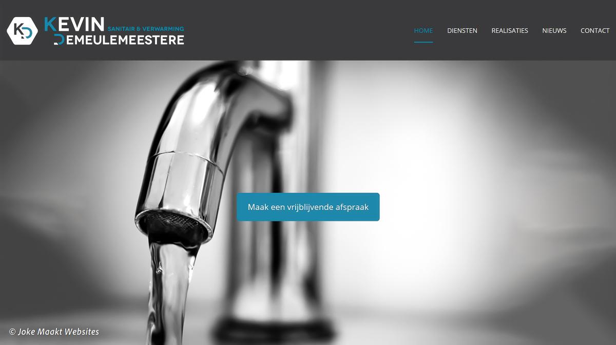 Een makkelijke, duidelijke en snelle website voor loodgieters en bedrijven in sanitair en centrale verwarming