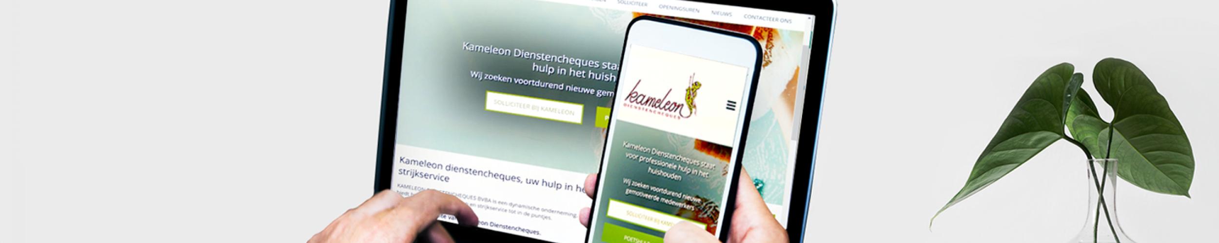 Makkelijke website, duidelijke website en snelle website voor ondernemingen die hulp in het huishouden of poetshulp aanbieden met dienstencheques