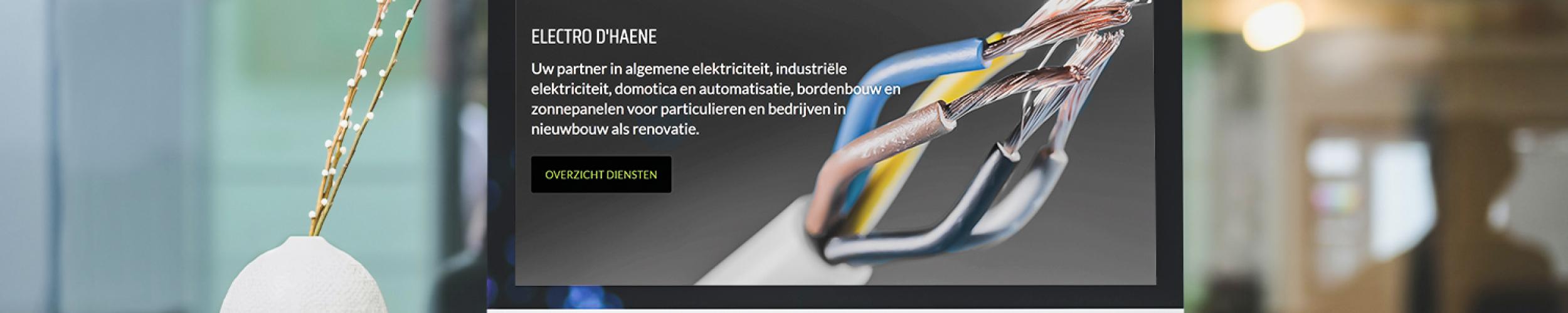 Makkelijke website, duidelijke website en snelle website voor elektriciens in algemene en industriële elektriciteit