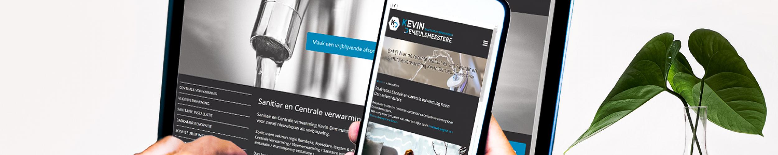 Makkelijke website, duidelijke website en snelle website voor loodgieters en vakmannen in sanitair en centrale verwarming