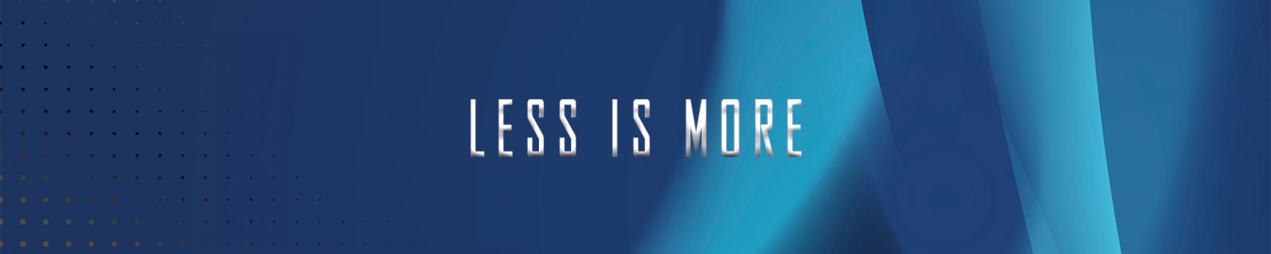 """Een website met als motto """"Less is More"""". Makkelijke, duidelijke en snelle website"""