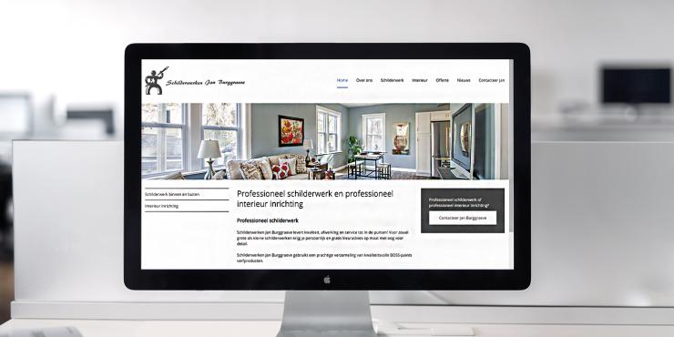 Makkelijke, duidelijke en snelle website voor schilders en interieur inrichters