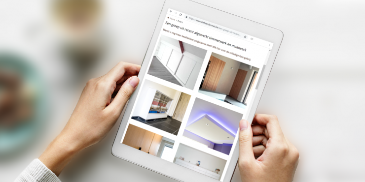 Makkelijke, duidelijke en snelle website voor schrijnwerkers, dakwerkers en zelfstandigen in timmer- en maatwerk